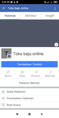 Membuat fanspage untuk bisnis online