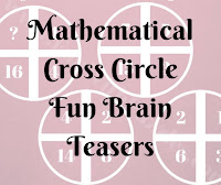 Mathematical Cross Circle Fun Brain Teasers