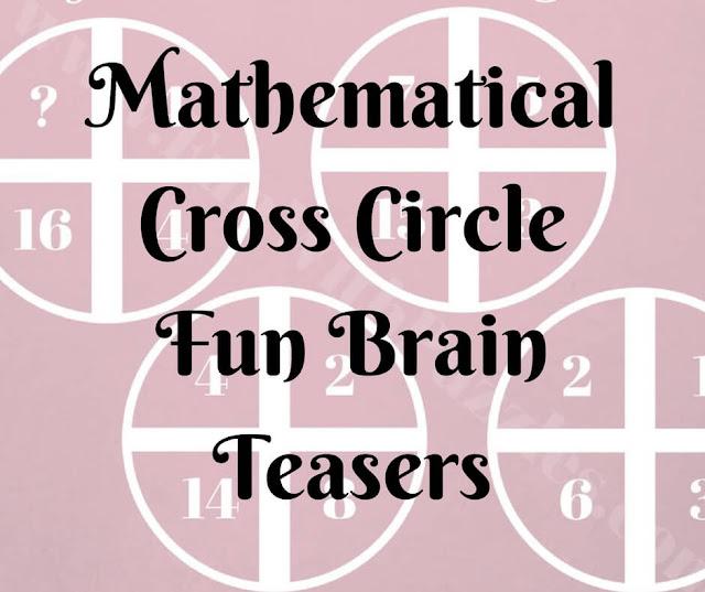 Mathematical Cross Circle Fun Brain Teasers