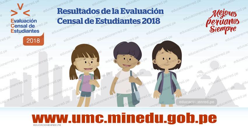 RESULTADOS ECE 2018 - Evaluación Censal de Estudiantes - UMC - MINEDU (9 Abril 2019) www.minedu.gob.pe