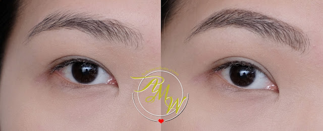 before and after photo of Benefit Brow Contour Pro Review by Nikki Tiu of www.askmewhats.com
