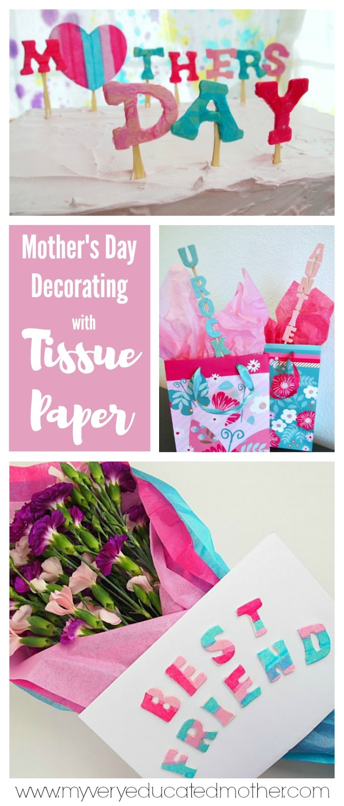 Tissue Paper Letters for Mother's Day