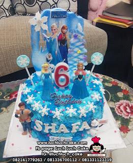 Buttercream Cake Frozen Elsa and Anna