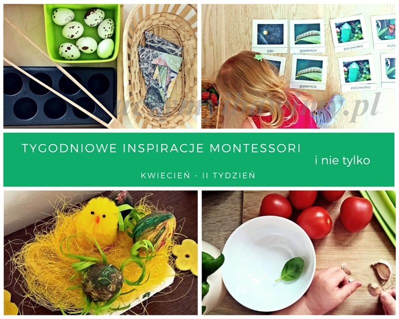 Tygodniowe inspiracje Montessori - KWIECIEŃ - II TYDZIEŃ