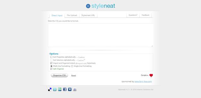 Situs - Situs Untuk Merapihkan Kode CSS - Styleneat