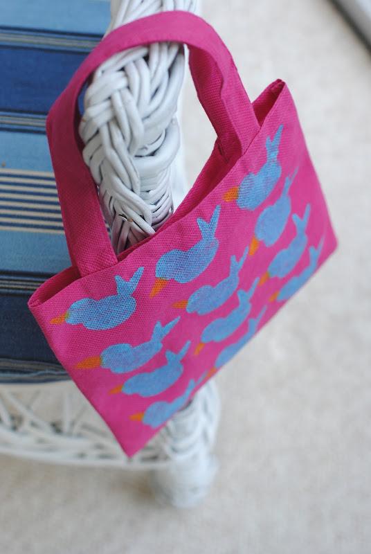 Adorable stamped bag