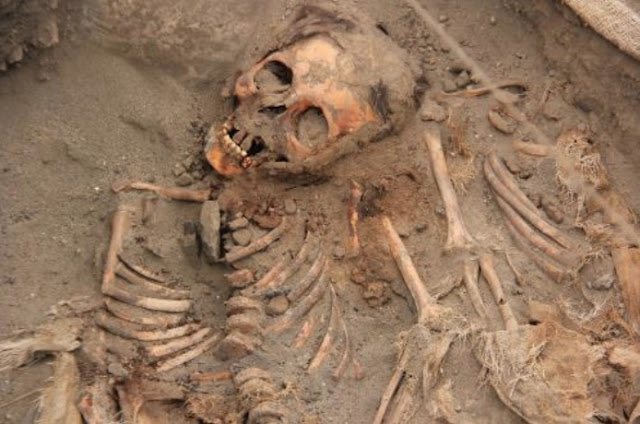Archaeologists find more remains of sacrificed children at Peru site