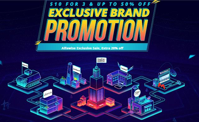 Promoção Exclusiva de algumas marcas na Gearbest