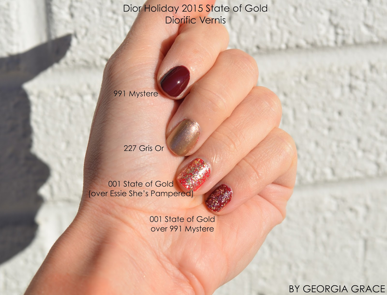 Dior Holiday 2015 Makeup Swatches and Review Nail Polishes and Couture Palette in Smoky