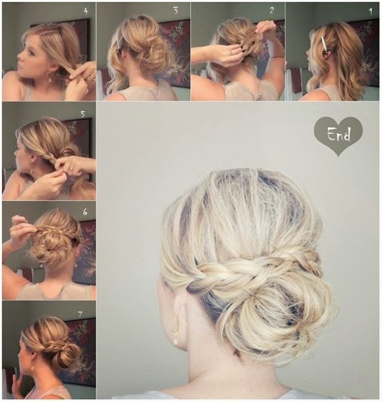 5 Trendy Messy Braid Bun Updos