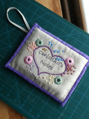 Mum's Knitting Notes Pouch