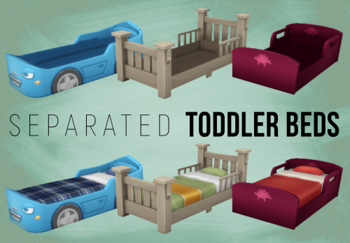 My Sims 4 Blog Separated Toddler Beds By Simspirashun