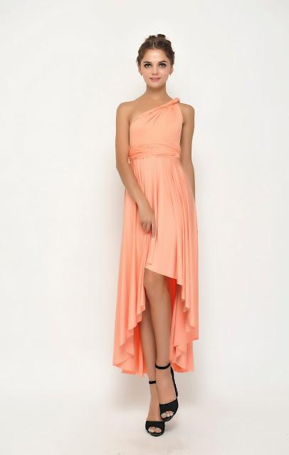 bridesmaid dress high low