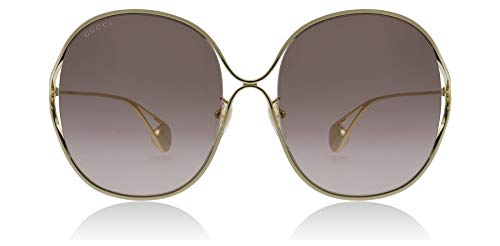 cac394f6688 Gucci GG0362S 002 Gold GG0362S Square Sunglasses Lens Category 2 Size 57mm  2019