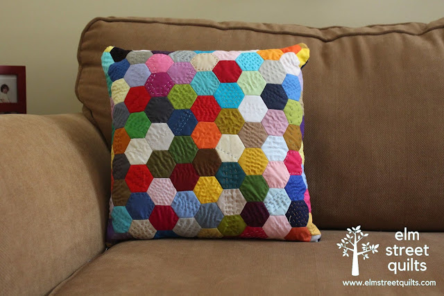 elm street quilts hexie pillow random