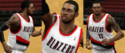 NBA 2K13 LaMarcus Aldridge Cyberface Patch