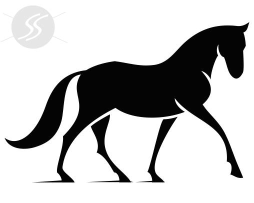 adesivos decorativos animais cavalo manso - 20 Adesivos decorativos de animais para decorar o seu ambiente