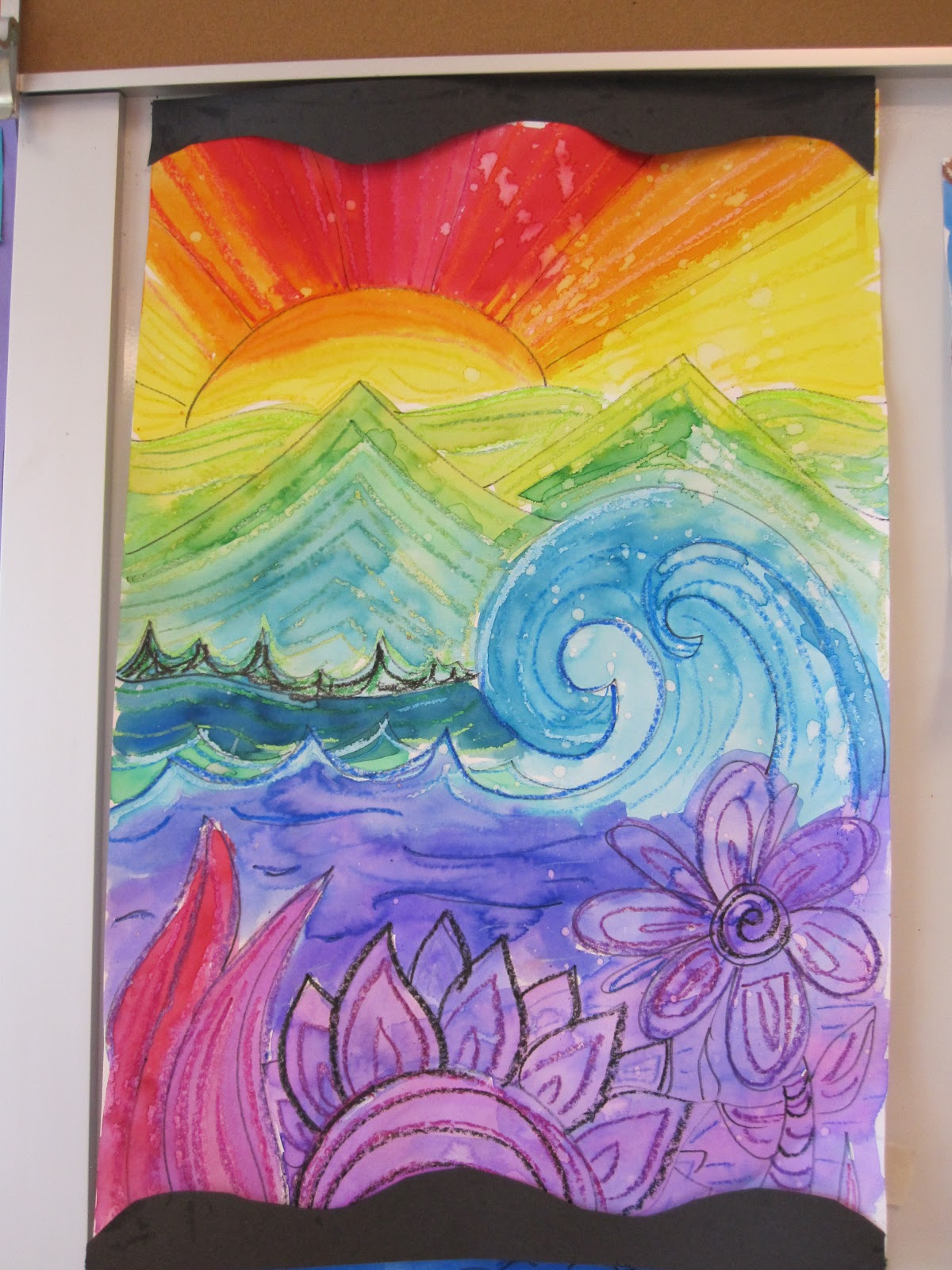 the clever feather 5th grade colorful landscapes