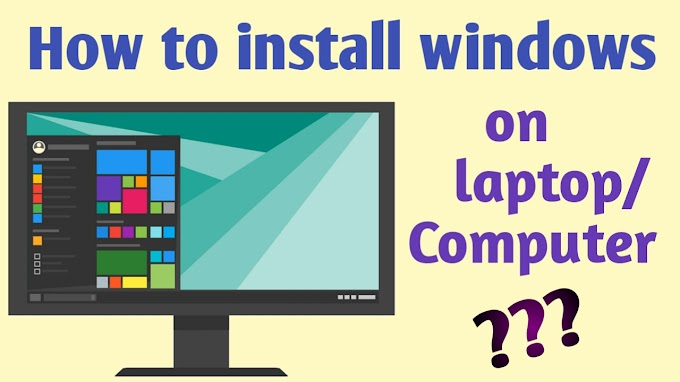How to install windows on the computer || learn windows installation