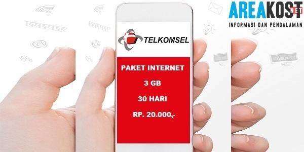 Kode Paket Internet Telkomsel Murah 3GB Mulai 20 Ribu Terbaru