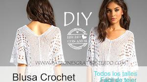 Blusa Crochet para Todos los Talles / Tutorial