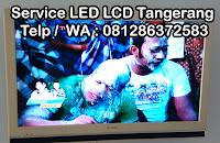 jasa service tv samsung polytron lg coocaa konka tcl bsd gading serpong tangerang