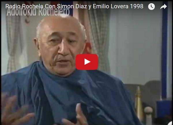 Simón Díaz y Emilio Lovera; En La Radio Rochela