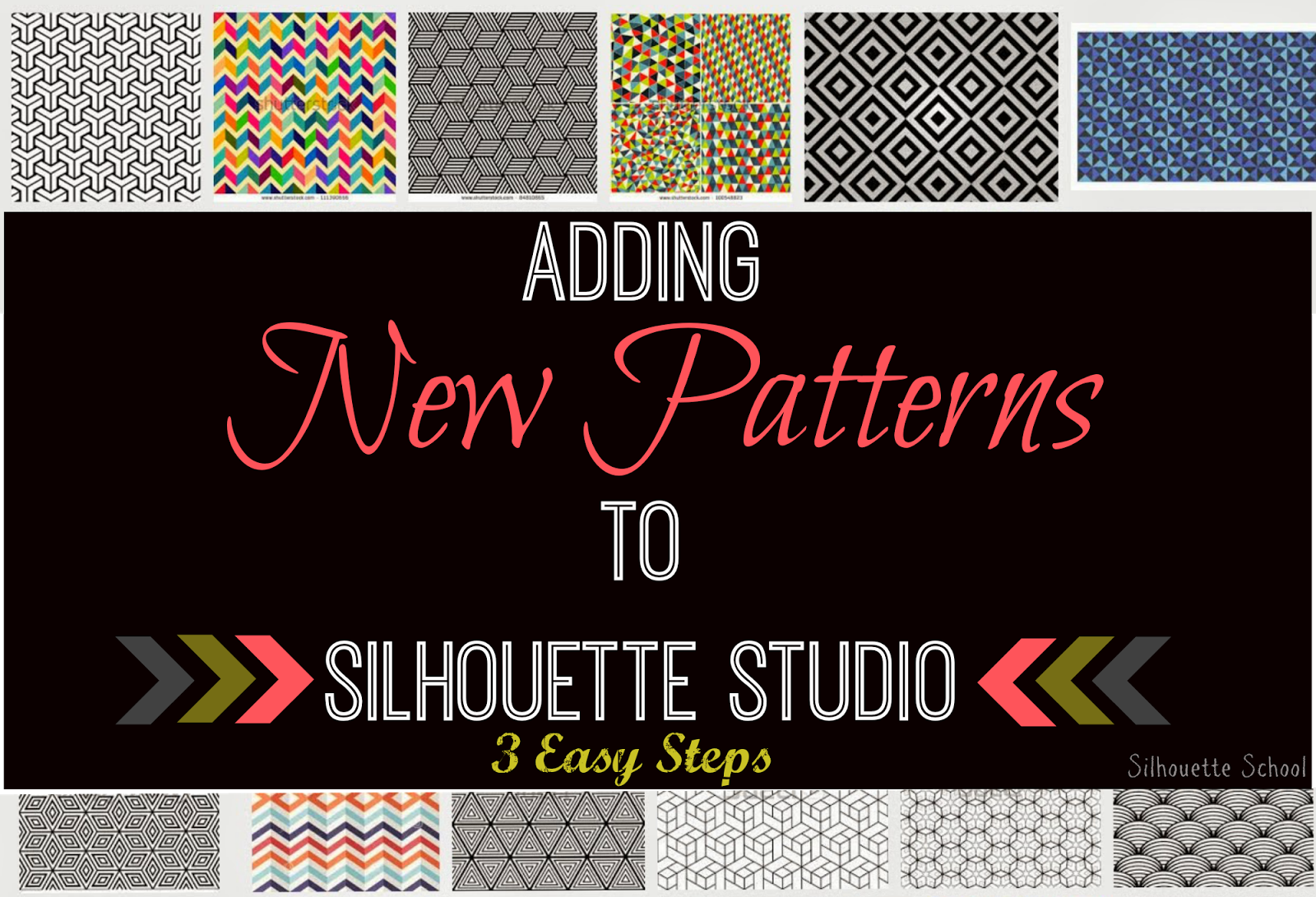 Patterns, adding, Silhouette Studio, easy steps