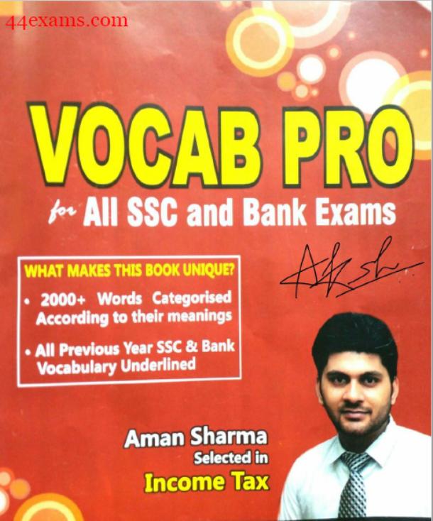 Vocab Pro English Vocabulary By Aman Vashishth : For SSC & Bank Exam PDF Book