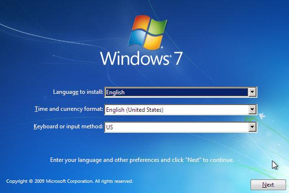 Εγκατάσταση Windows 7
