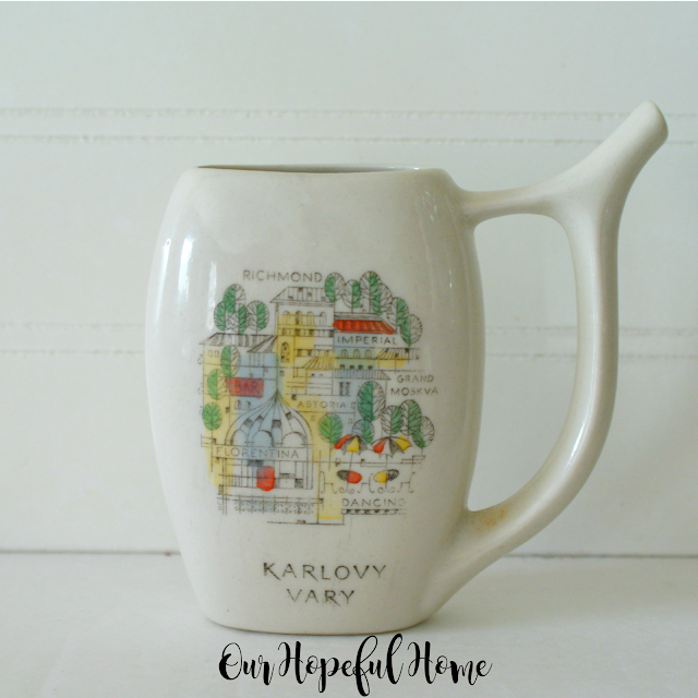 Karlovy Vary spa cup Czech Republic mineral water