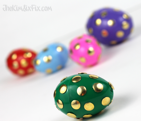 Push Pin Polka Dot Easter Eggs