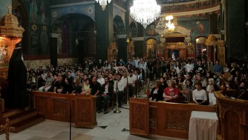Βραδυνή Θεία Λειτουργία στον Άγιο Νικόλαο για τους μαθητές που δίνουν Πανελλήνιες Εξετάσεις