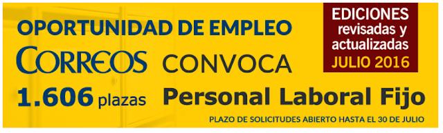 Temarios Nueva Convocatoria Correos. Disponibles en Libreria Cilsa, Alicante.
