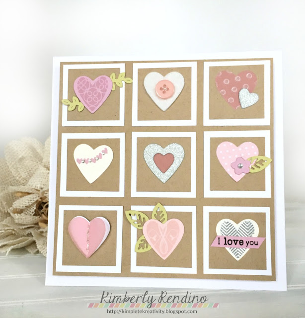 sampler | handmade card | kimpletekreativity.blogspot.com | papertrey ink | hearts | love you | valentine