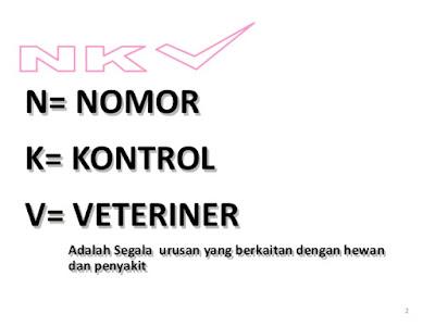 gambar Nomor Kontrol Veteriner