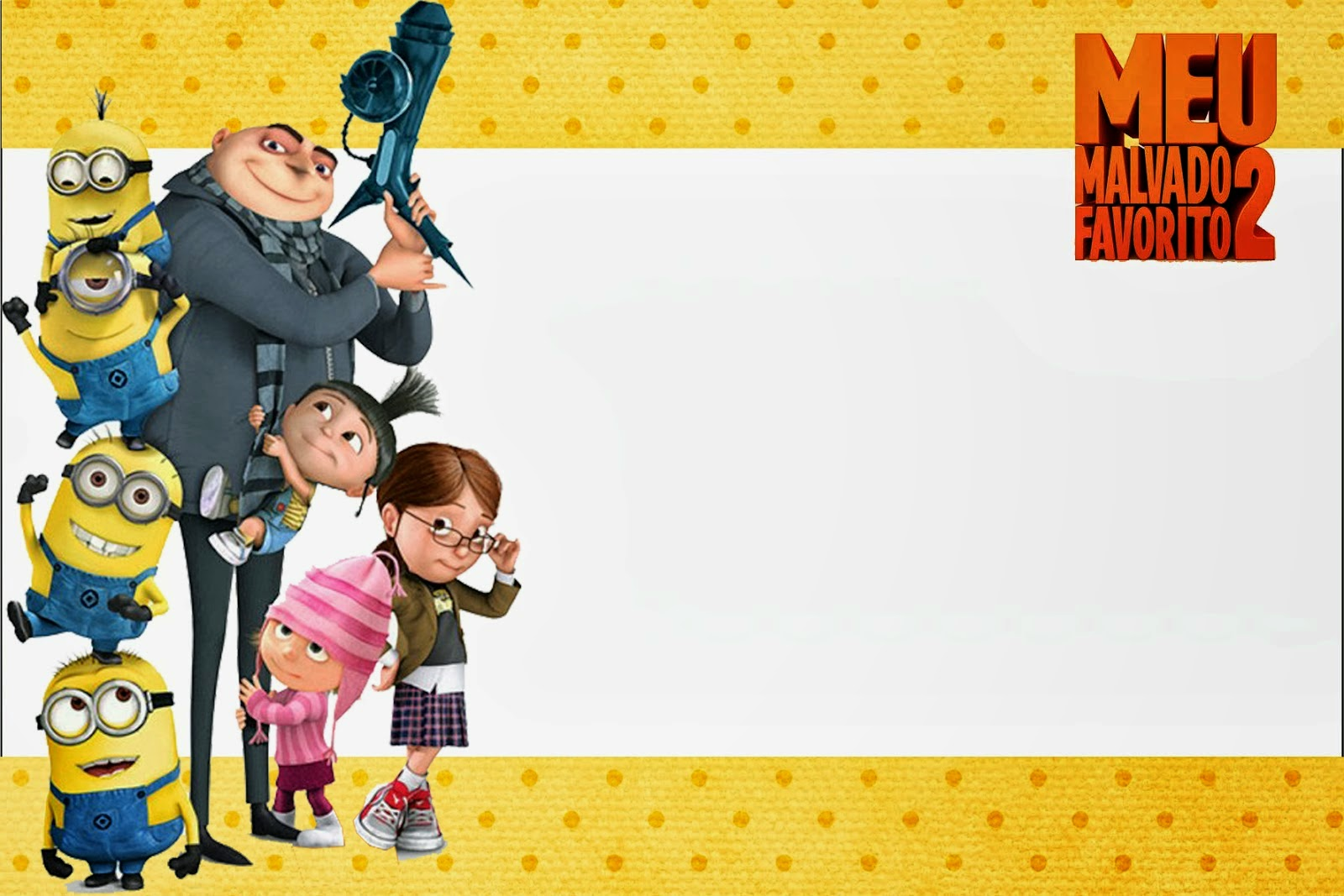 Despicable Me 2: Free Printable Invitations and Candy Bar ...