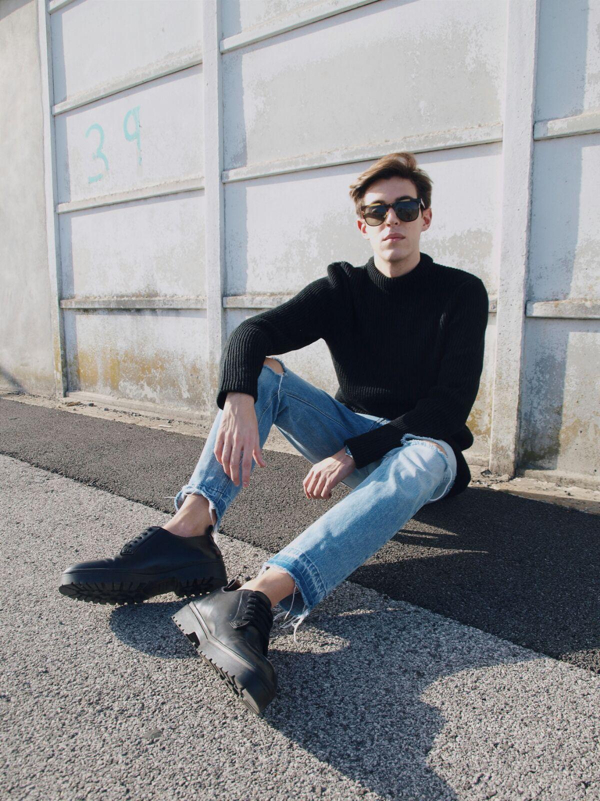 coastalandco-blog-blogger-hendaye-mode-moda-fashion-homme-man-hombre-zara-komono-casual-destroy-perkin-black-shoes