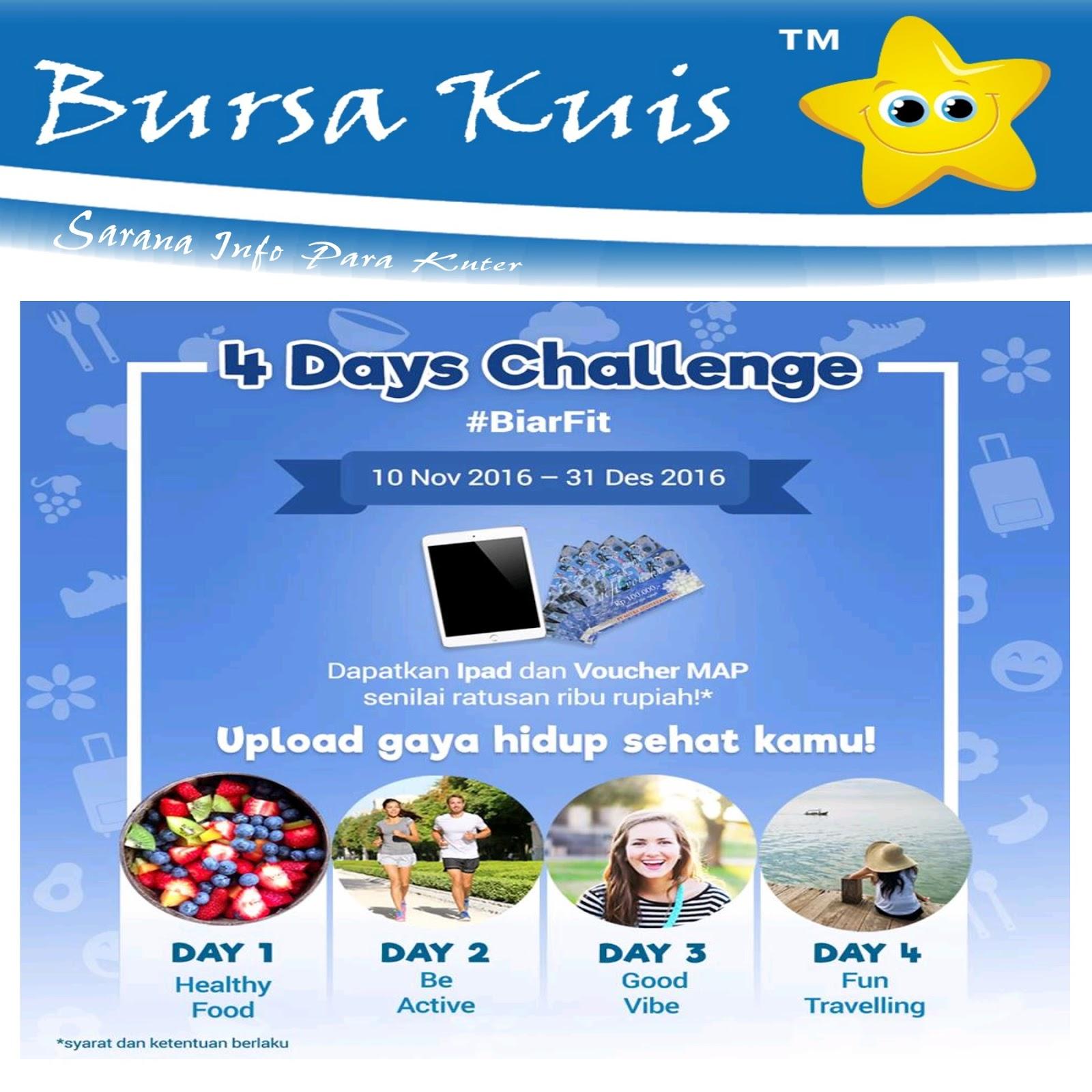 Kuis 4 Days Challenge Biar Fit Berhadiah Ipad Dan Voucher Belanja Map Senilai 1 Juta