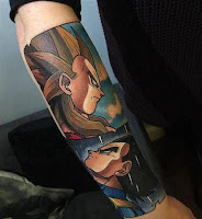 tatuaje antebrazo dragon ball a color