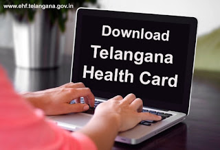EHF Login, Telangana Health Card, Download Health Card Telangana