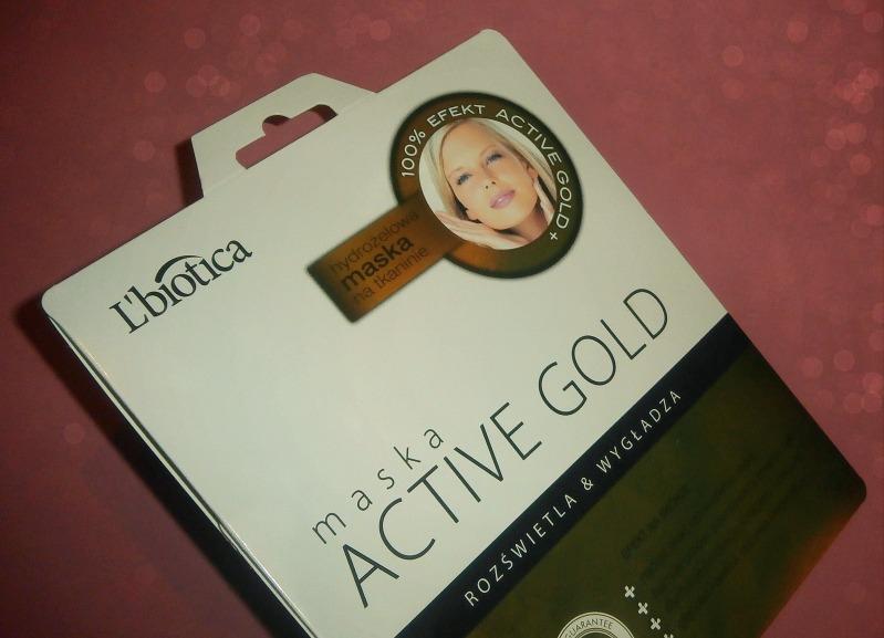 Hydrożelowa maska do twarzy Active Gold
