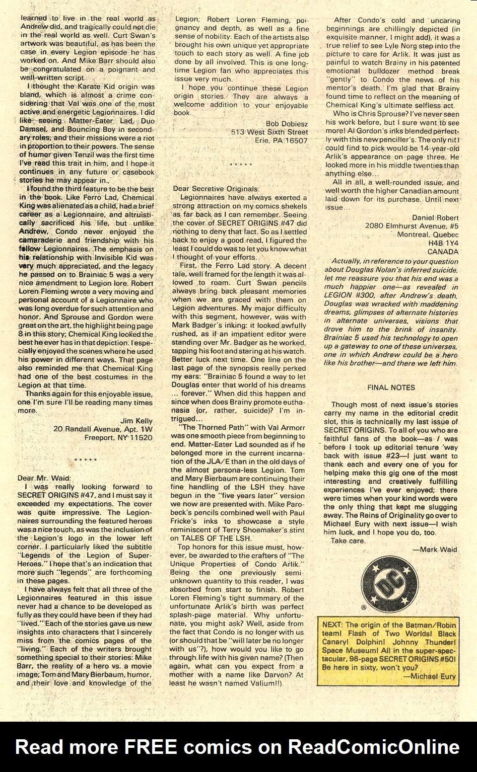 Read online Secret Origins (1986) comic -  Issue #49 - 42
