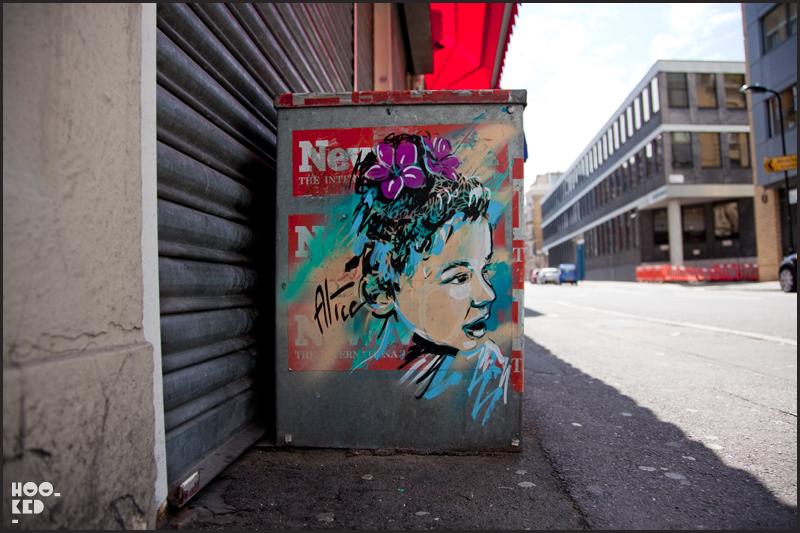 Alice Pasquini - Shoreditch Street Art on Paul Street