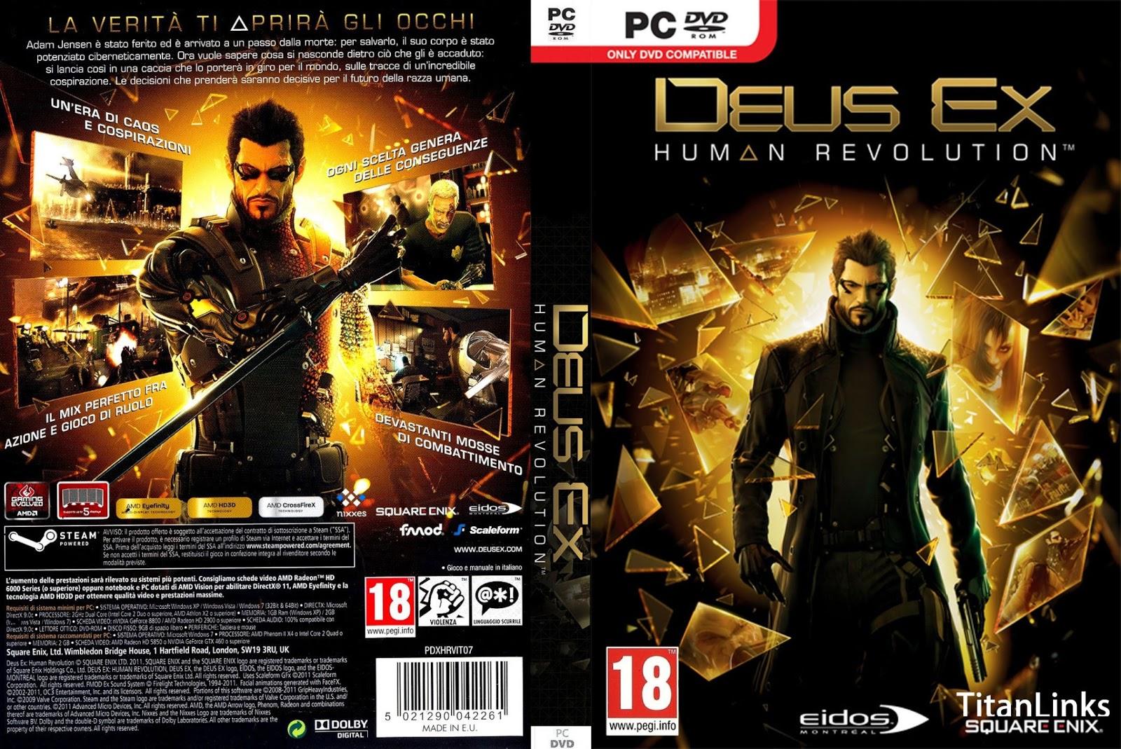 Deus ex human revolution pc crack download.