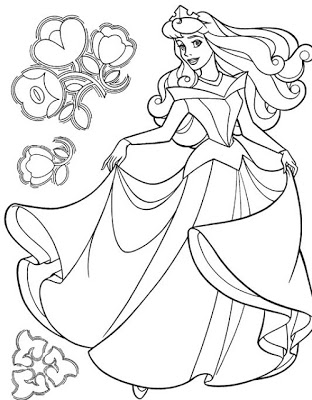 Descargar e imprimir imágenes de princesas para colorear