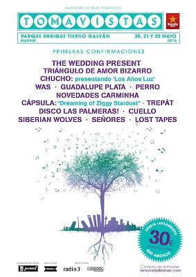 Primeros Nombres Festival Tomavistas 2016
