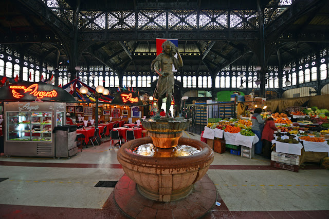 Mercado Central em Santiago do Chile