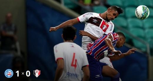 Com gol de Hernane Bahia encerra jejum de gols e vence o Joinville