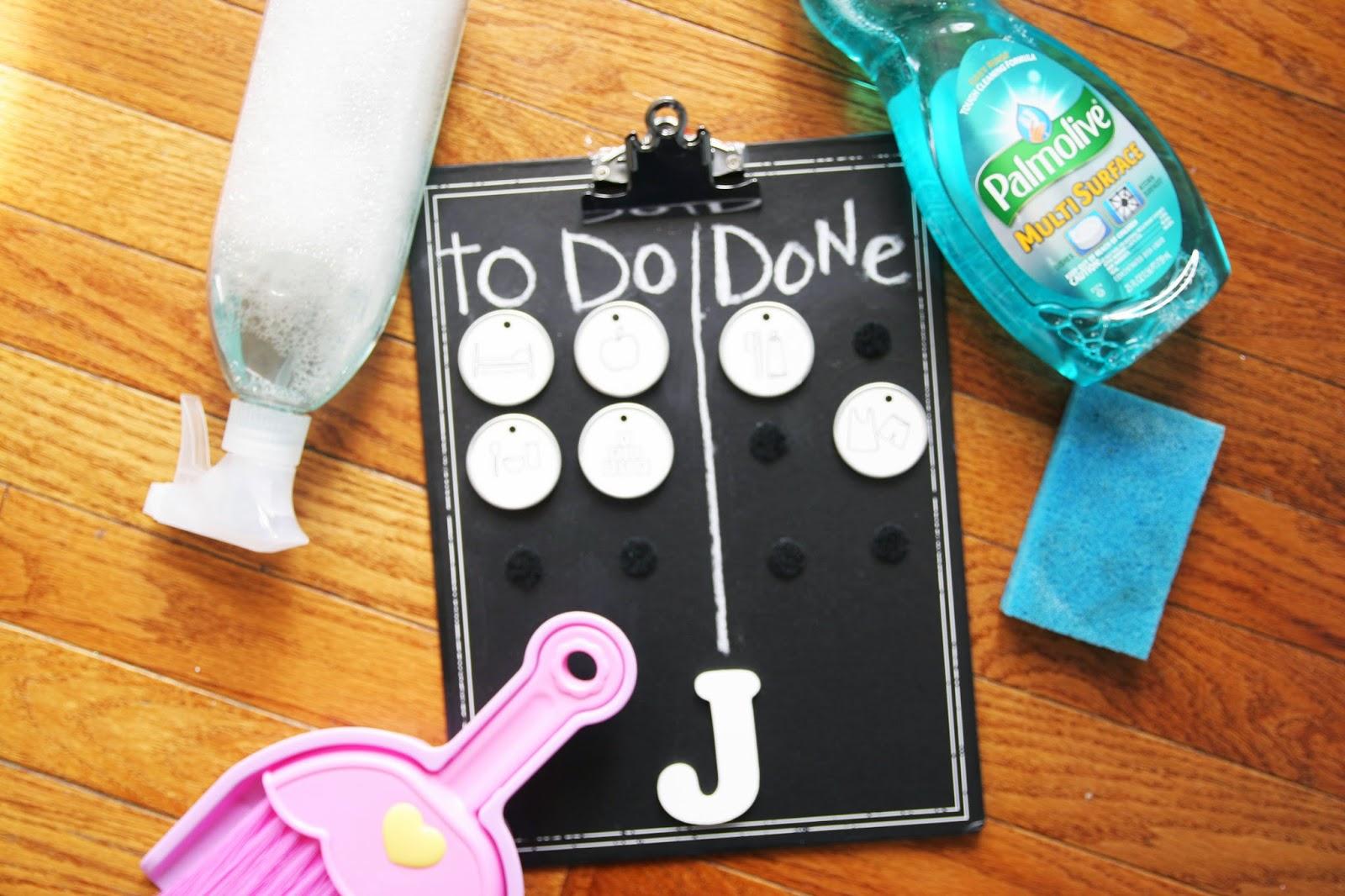 DIY velcro chore charts